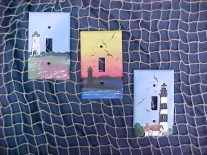 Lighthouse switch plates from the nautical realm for Lighthouse switch plates